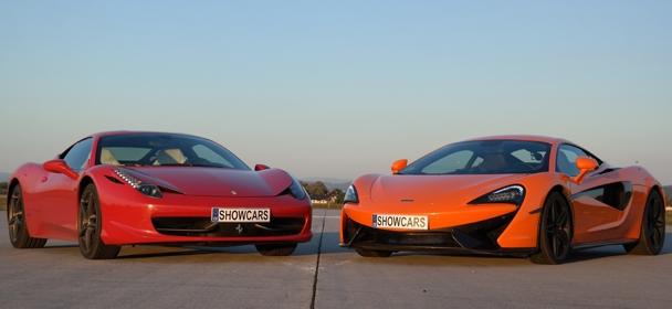 Ferrari 458 Italia versus McLaren 570S