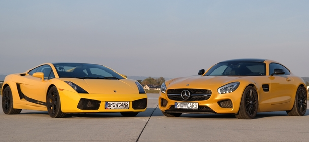 Lamborghini Gallardo LP560  vs Mercedes Benz AMG GTS