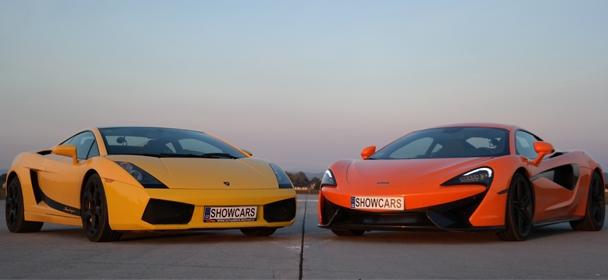 Lamborghini Gallardo LP560 versus McLaren 570S