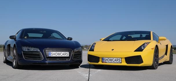 Lamborghini Gallardo LP560 versus Audi R8 V10 Plus